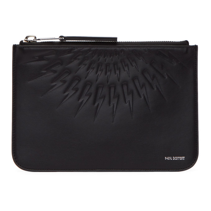 Neil Barrett Black Thunderbolt Pouch