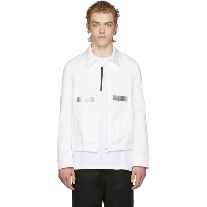 Neil Barrett White Tape Trim Blouson Jacket