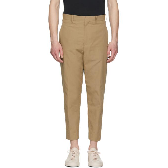 Neil Barrett Beige Textured Cotton Trousers