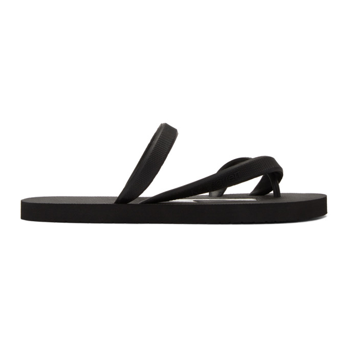 Neil Barrett Black & White Rubber Thunderbolt Sandals