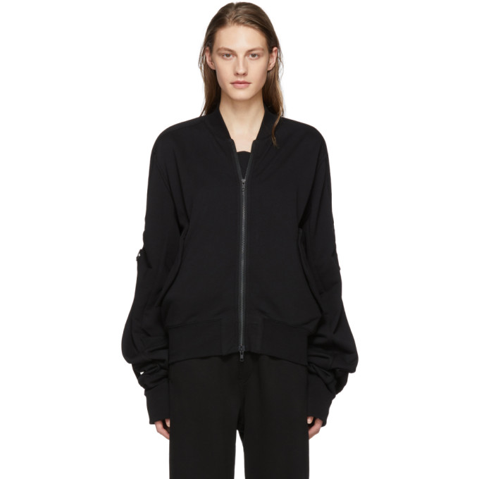 Ann Demeulemeester Black Tony Knit Bomber Jacket