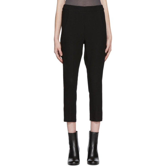 Ann Demeulemeester Black Slim Wool Trousers
