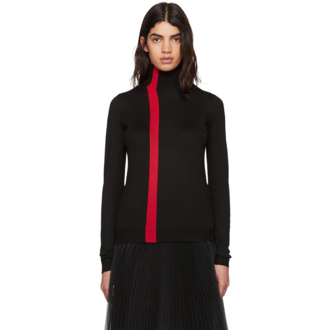 Marni Black & Red Wool Turtleneck