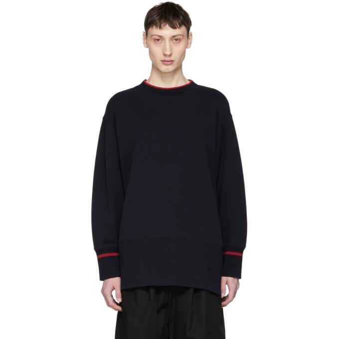 Marni Navy Contrast Stripe Sweatshirt