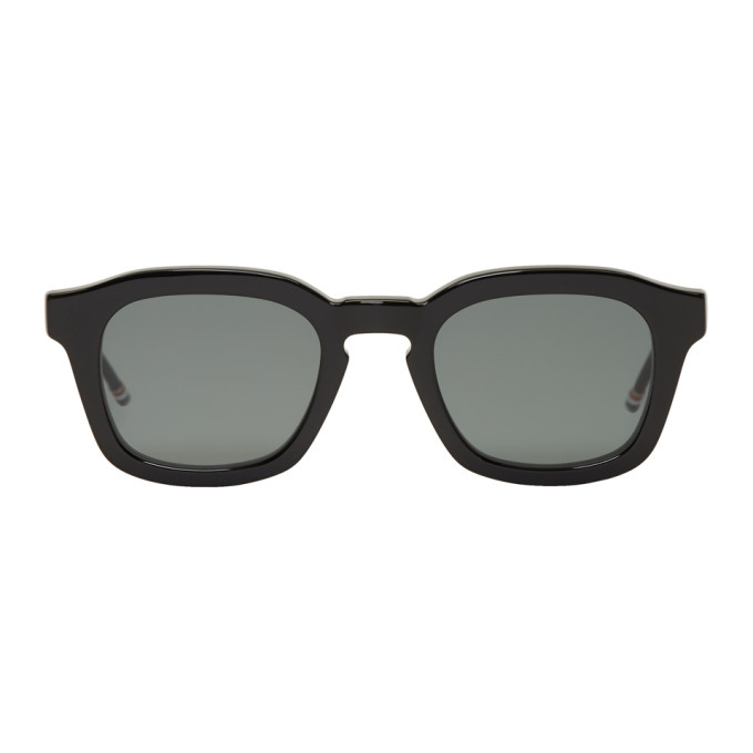 Image of Thom Browne Black Bold Frame Sunglasses