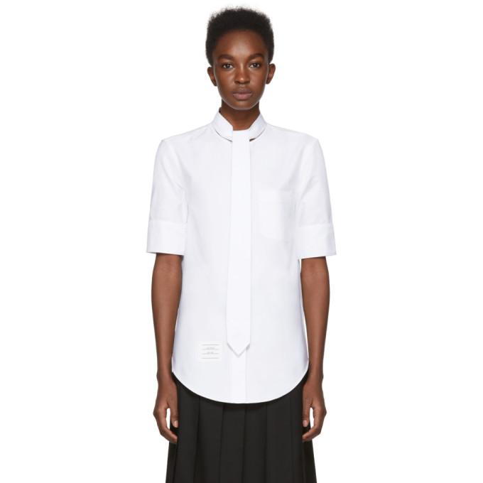 Thom Browne White Necktie Shirt