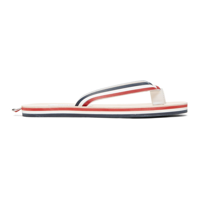 Thom Browne Tricolor Leather Sandals