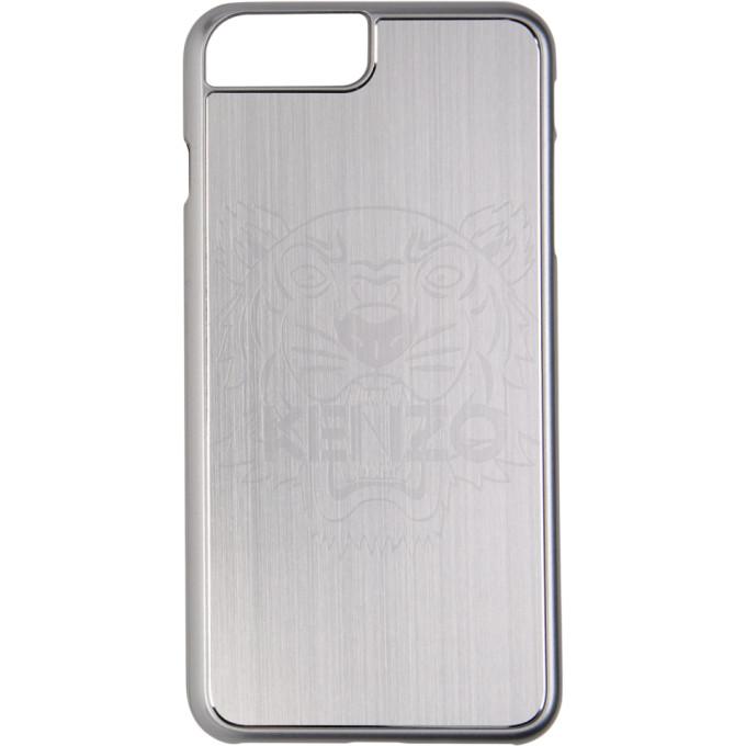 Kenzo シルバー アルミニウム タイガー ヘッド iPhone 7 Plus & 8 Plus ケース