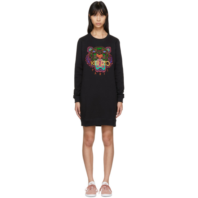 1d9e559d Kenzo Black Limited Edition Holiday Tiger Sweatshirt Dress