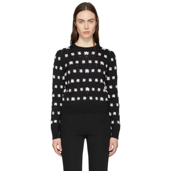 Kenzo Black Jackie Flowers Sweater