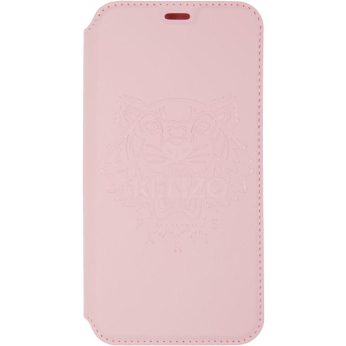 KENZO | Kenzo Pink Tiger iPhone X Folio Case | Goxip