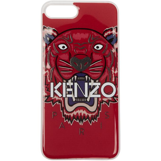 Kenzo レッド 3D タイガー iPhone 7 Plus ケース