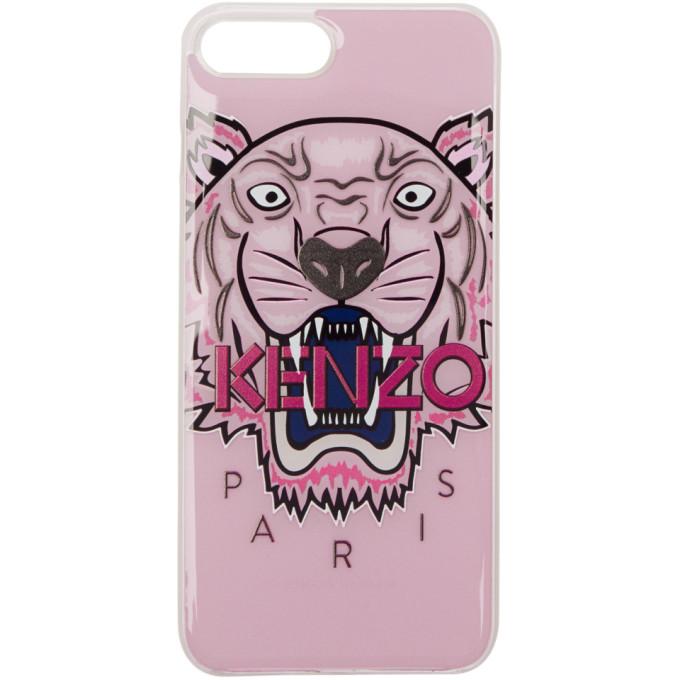 Kenzo ピンク 3D タイガー iPhone 7 Plus ケース