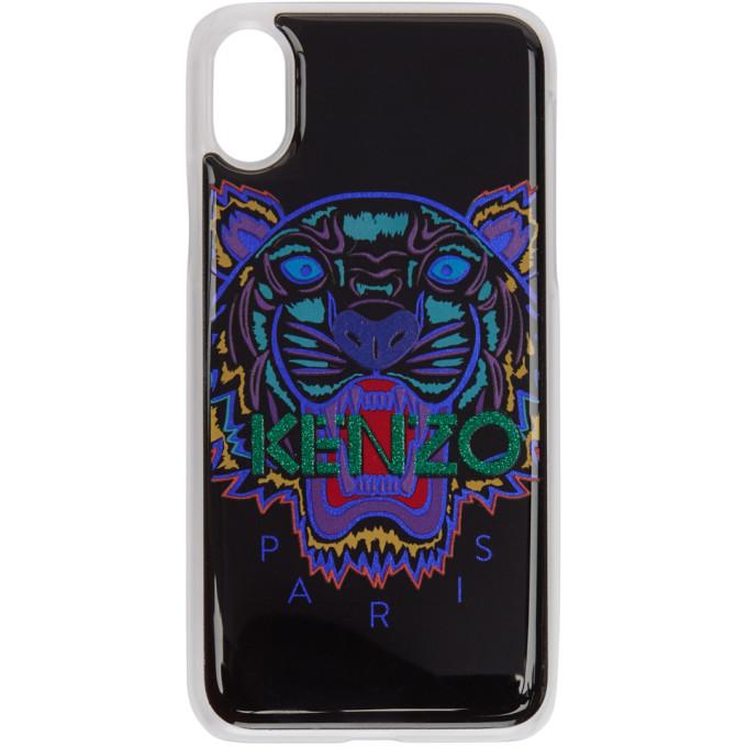 Image of Kenzo Black & Blue Tiger iPhone X Case