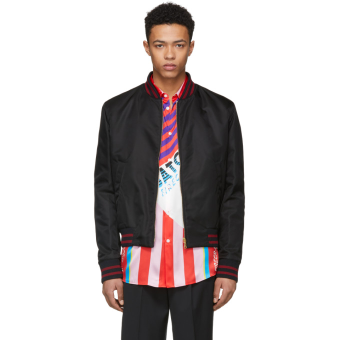 Kenzo Black Limited Edition Chinese New Year Tiger Bomber Jacket