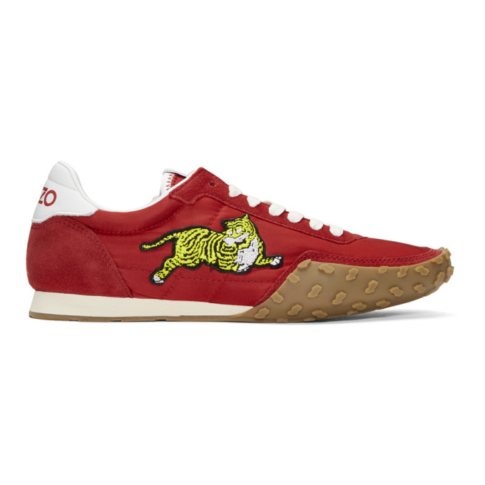 Kenzo Red 'Kenzo Move' Sneakers