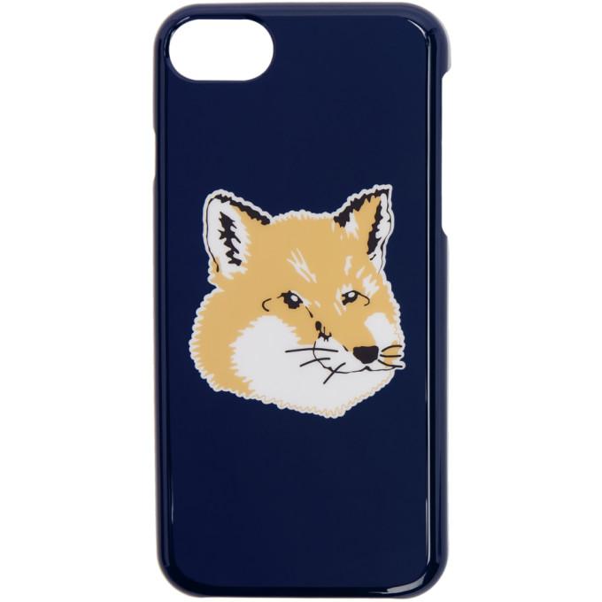 Maison Kitsuné ネイビー フォックス ヘッド iPhone 8 ケース