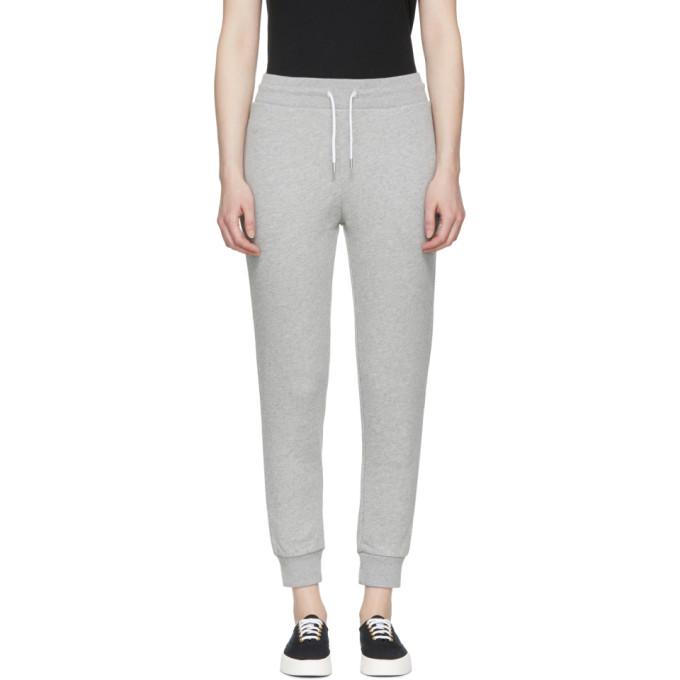 Maison Kitsuné Pantalon de survêtement gris Classic Tricolor Fox