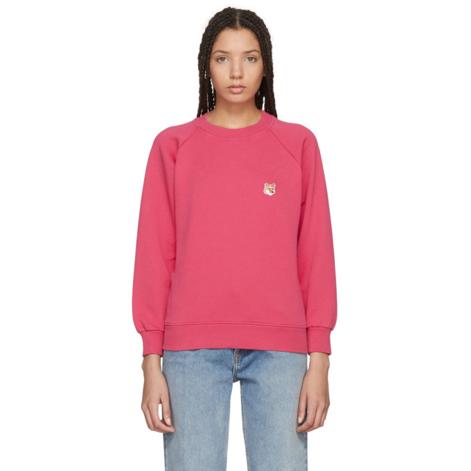 Maison Kitsuné Red Fox Head Sweatshirt