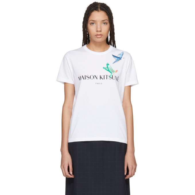 Maison Kitsuné White Lovebirds T-Shirt