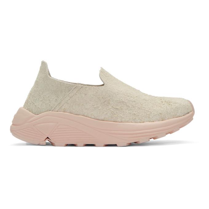 Image of Diemme Beige & Pink Suede One Slip-On Sneakers