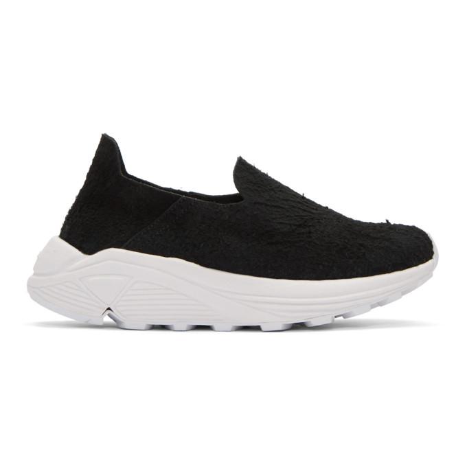 Image of Diemme Black & White Suede One Slip-On Sneakers