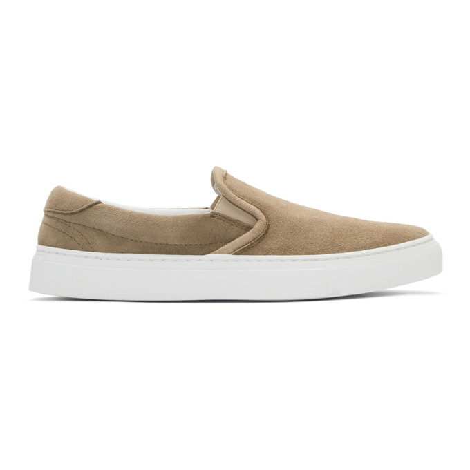 Image of Diemme Beige Suede Garda Slip-On Sneakers