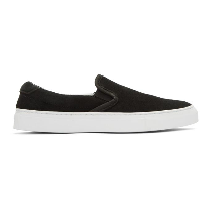 Image of Diemme Black Suede Garda Slip-On Sneakers