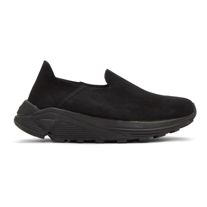 Image of Diemme Black Suede One Slip-On Sneakers