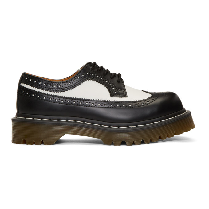 Dr. Martens Black & White 3989 Bex Longwing Brogues