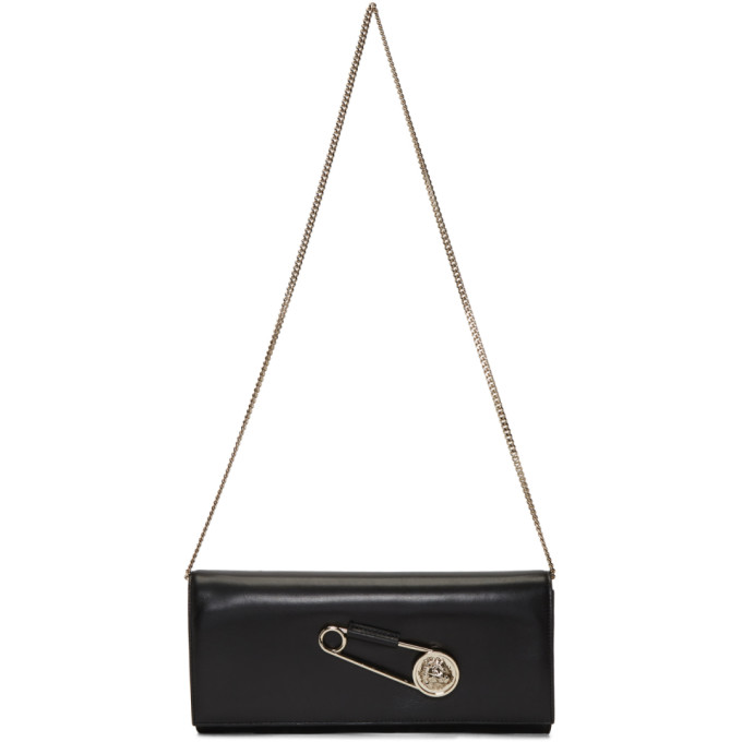 Versus Black Oversized Safety Pin Clutch