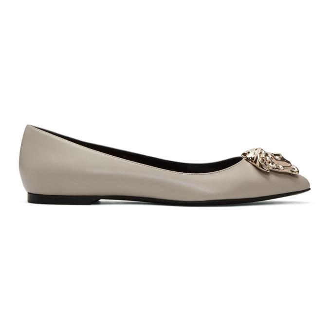a39a1681 Versace Grey Medusa Ballerina Flats