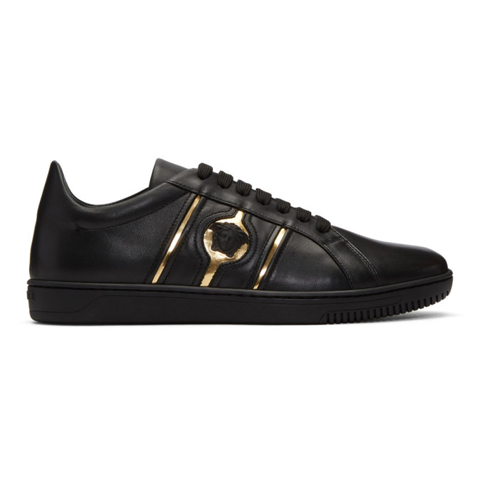 Versace Black Medusa Head Sneakers