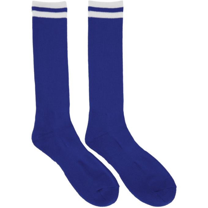 Image of Undercover Blue Logo Socks