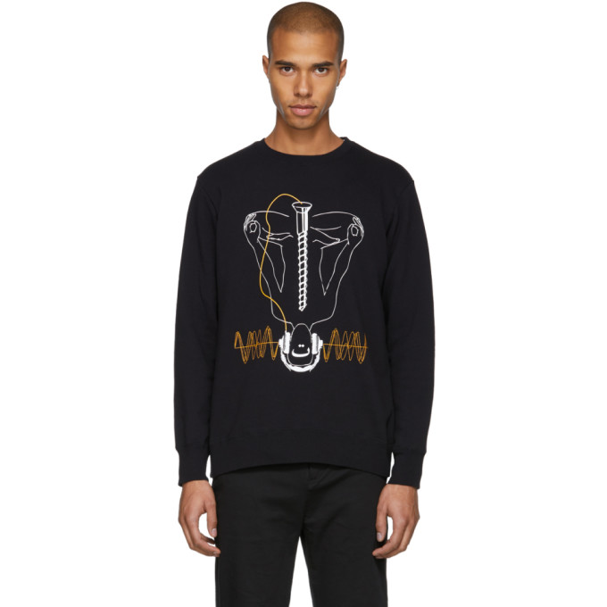 Image of Undercover Black Silent Noise Sweatshirt