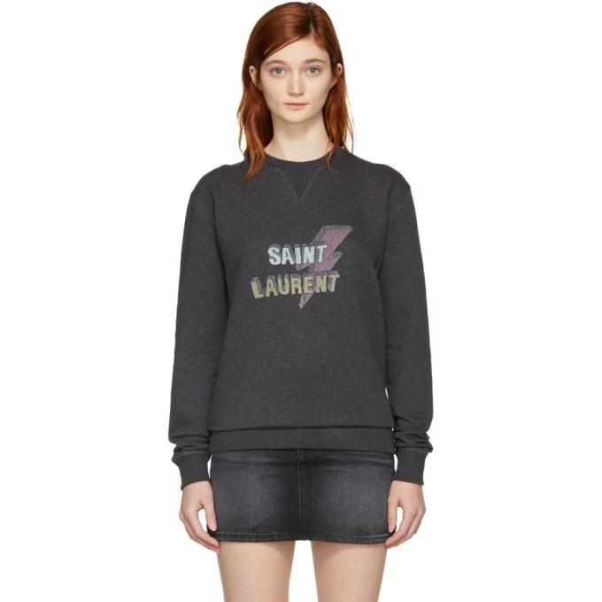 Saint Laurent Grey Saint Laurent Éclair Sweatshirt