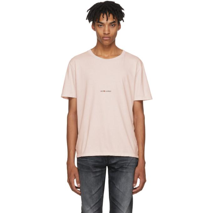 Saint Laurent Pink Rive Gauche T-Shirt