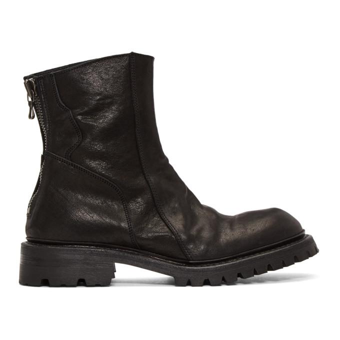 Julius Black Slashing Engineer Boots