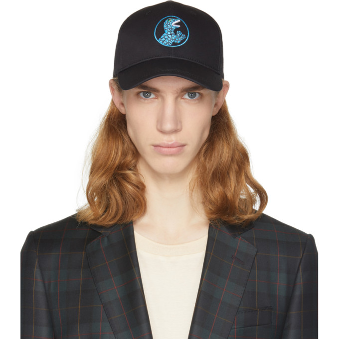 Ps By Paul Smith Black Dino Cap