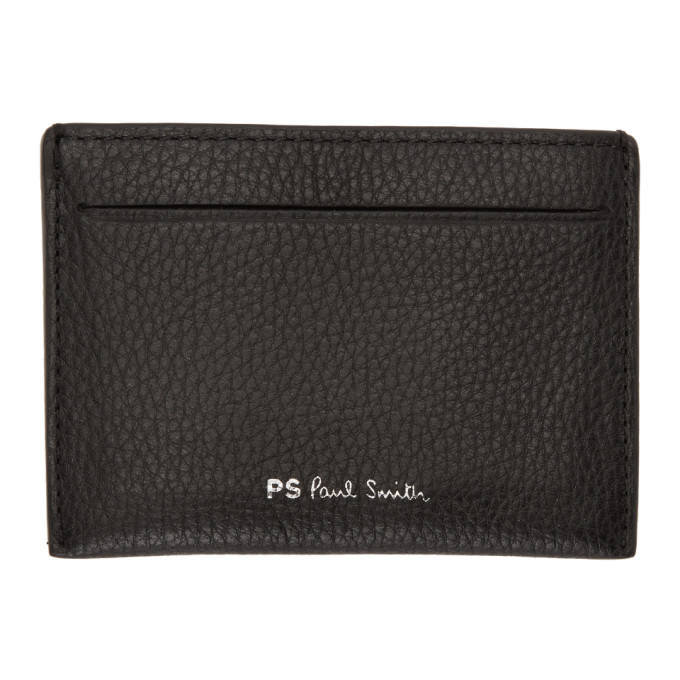 Ps By Paul Smith Black Multistripe Card Holder