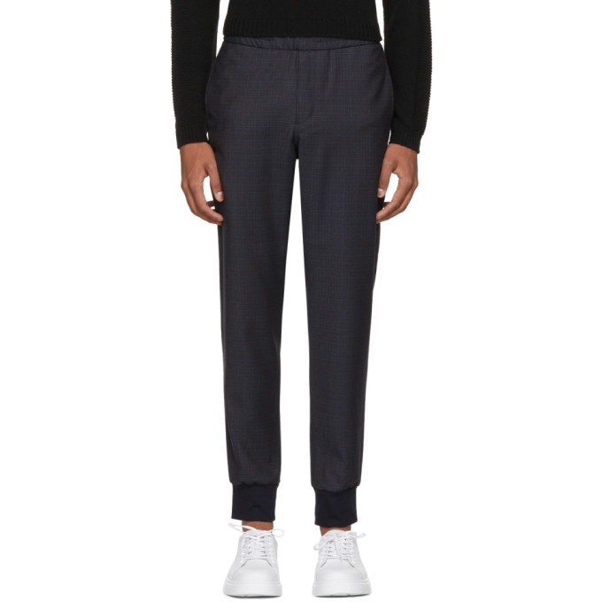 PS by Paul Smith Pantalon à carreaux et cordon coulissant bleu marine