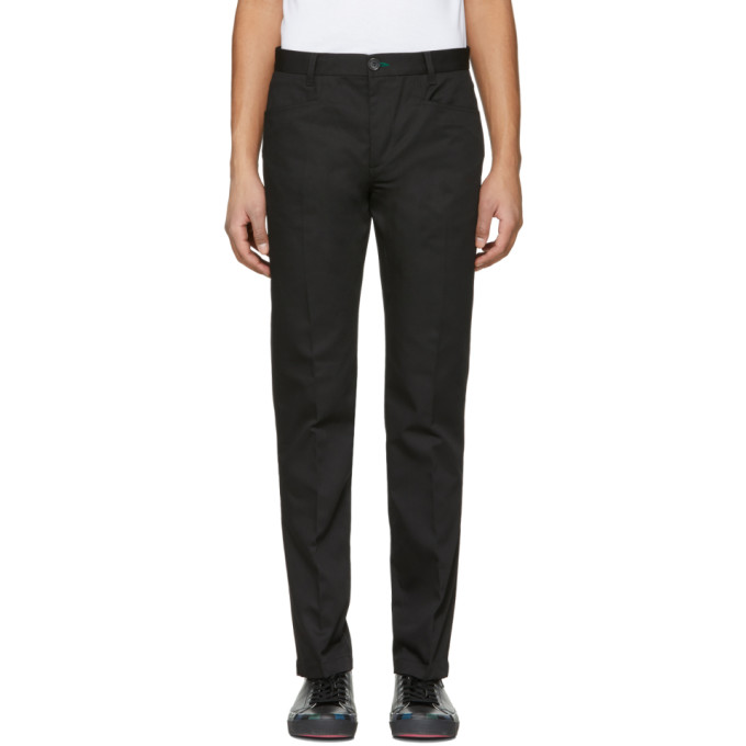 Ps By Paul Smith Black Slim Stay Sharp Trousers