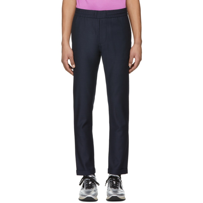 PS by Paul Smith Pantalon à taille élastique bleu marine