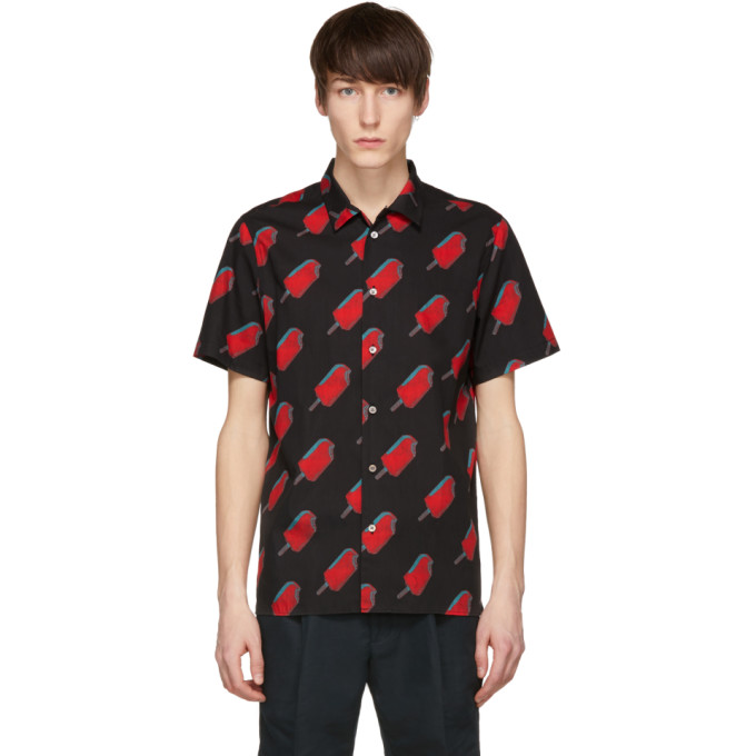 Ps By Paul Smith Black & Red Popsicle Shirt