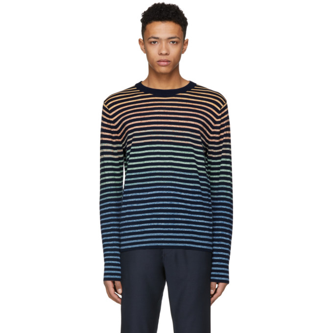 Ps By Paul Smith Miulticolor Striped Knit Sweater
