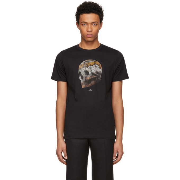Ps By Paul Smith Black Large Skull T Shirt