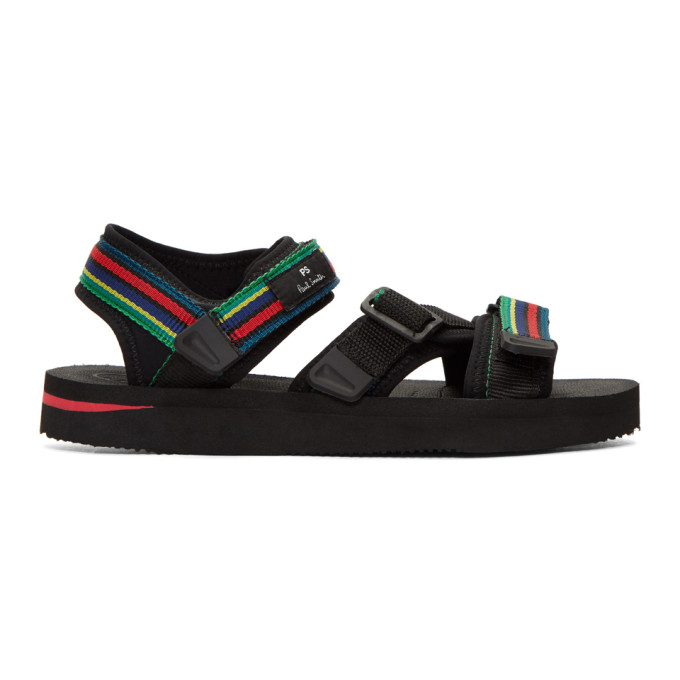 Ps By Paul Smith Black Stripe Formosa Cycle Sandals