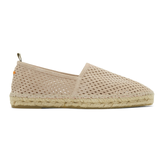 Image of Castañer Beige Perforated Pablo Espadrilles