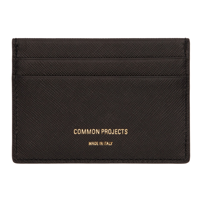 Image of Woman by Common Projects Black Saffiano Multi Card Holder