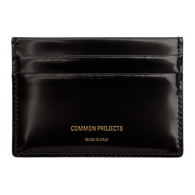 Image of Woman by Common Projects Black Patent Multi Card Holder